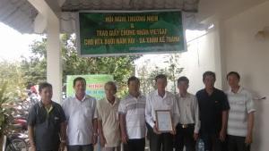 Bưởi Năm Roi - da xanh Kế Thành được chứng nhận VietGAP