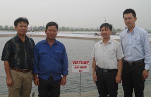 VinaCert trao chứng nhận VietGAP về nuôi tôm thẻ chân trắng cho DN tư nhân Tân Vân